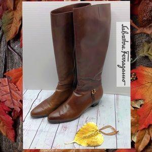 Salvatore Feragamo Leather Boots Size 9 1/2 AAAA